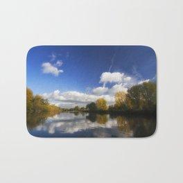 Autumn on the River Thames Bath Mat