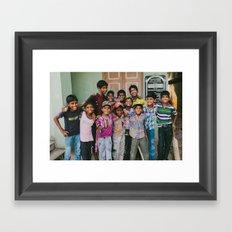India Sandlot Framed Art Print