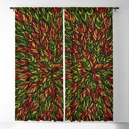 Autumn Ink Leaves Blackout Curtain