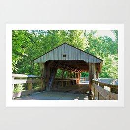 The Covered Bridge at Wildwood Art Print