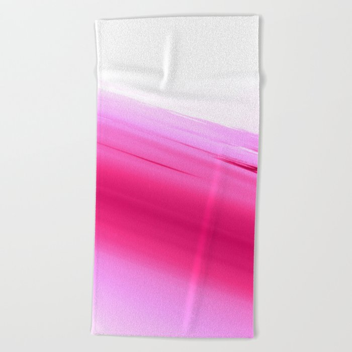 Pink White Smooth Ombre Beach Towel