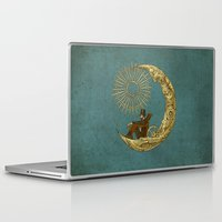danny haas Laptop & iPad Skins featuring Moon Travel by Eric Fan