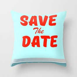 Save the Date vintage american Diner Throw Pillow