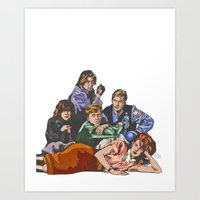 breakfast club Art Prints featuring The Breakfast Club by Heidi Banford