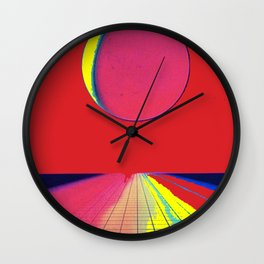 Under Red Skies Wall Clock