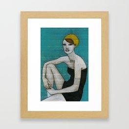 """Bather"" by Herta Framed Art Print"