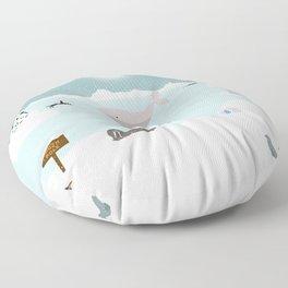 South Pole Floor Pillow