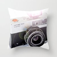 the flash Throw Pillows featuring Flash by Premium