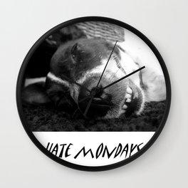 Hate mondays Wall Clock