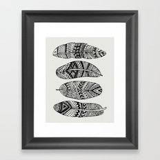 Feathers Of My Life Framed Art Print