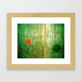 Metallic Face (Green Version) Framed Art Print