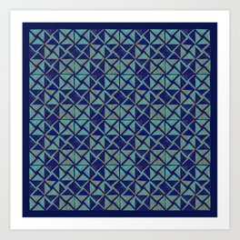 Patternsmith Triangles Blue Art Print