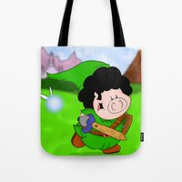 zelda Tote Bags featuring Zelda! by Afro Pig