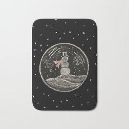 snowmen bubbles Bath Mat