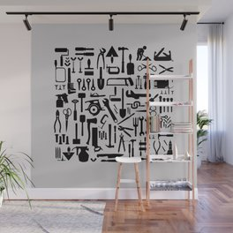 Tools silhouettes Wall Mural