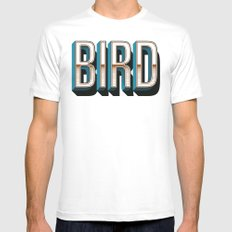 Bird White MEDIUM Mens Fitted Tee