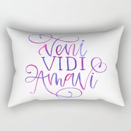 Veni Vidi Amavi Rectangular Pillow