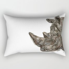 Rhinoceros Rectangular Pillow
