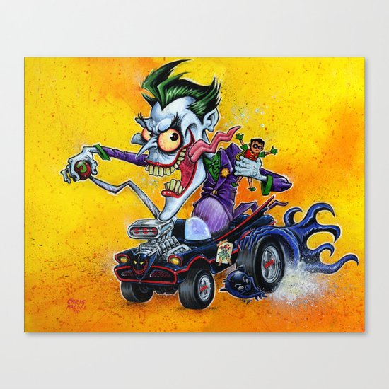 Hot Rod JOKER! Canvas Print