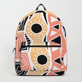 Four Waves - Black Orange Yellow Backpack