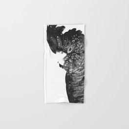 Black and White Cockatoo Illustration Hand & Bath Towel
