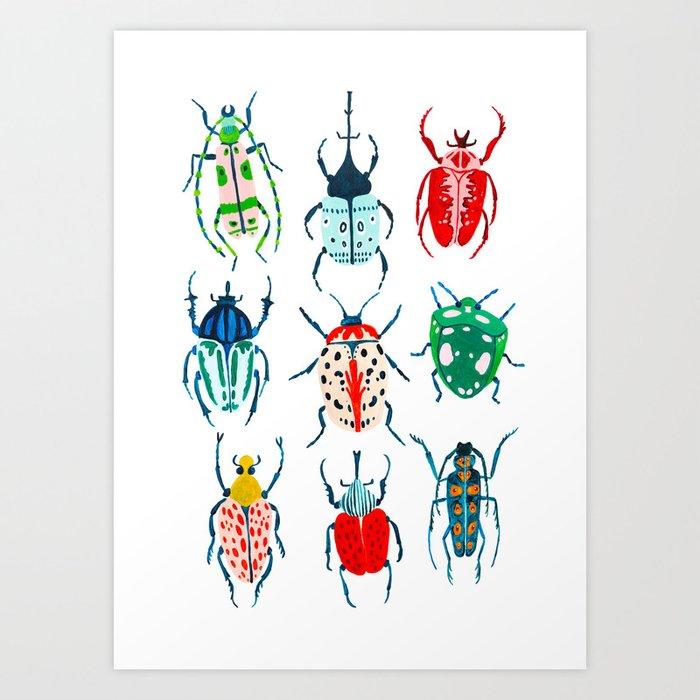 Garden Beetles Art Print