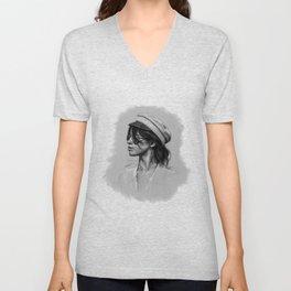 Camila Gray Sketch Unisex V-Neck