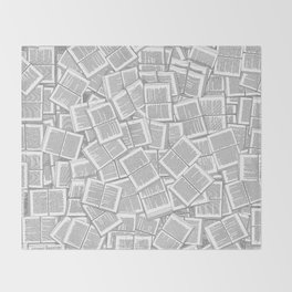 Literary Overload Throw Blanket