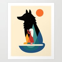 best friend Art Prints featuring Best Friend by Andy Westface