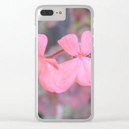 Pink Geranium Clear iPhone Case