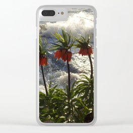 Lakeside Flowers III Clear iPhone Case