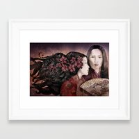 sisters Framed Art Prints featuring Sisters by Marine Loup