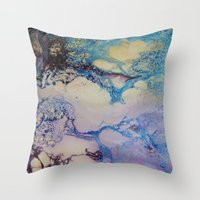 exo Throw Pillows featuring Exo - Birth Series II by Melina Green