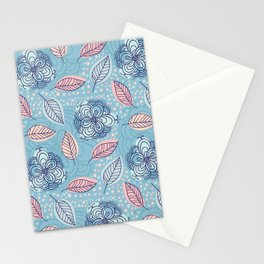 Pattern with leaves Stationery Cards