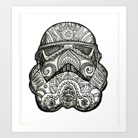 trooper Art Prints featuring Trooper by Patricio Sebastian Pomies