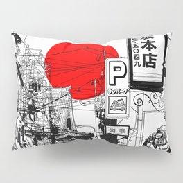 Tokyo street sunrise Pillow Sham