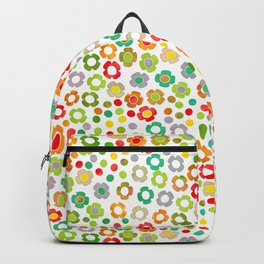 dp065-10 floral pattern Backpack
