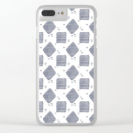 Hand Drawn Blues Clear iPhone Case