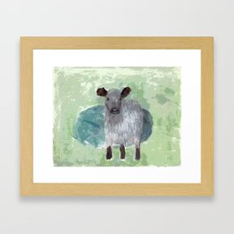 Three Legged Cow Framed Art Print
