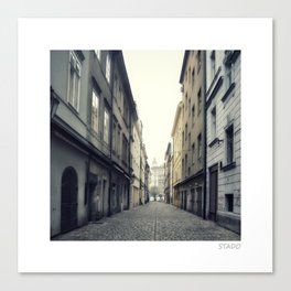 Cobblestone Alleys in Prague Canvas Print