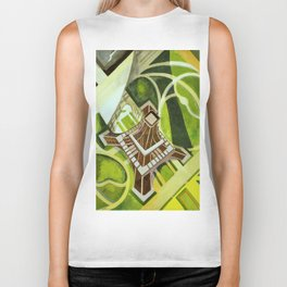 "Robert Delaunay ""Eiffel Tower and Gardens, Champ de Mars"" Biker Tank"