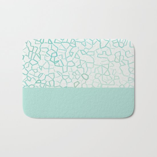 Abstract on Turquois Bath Mat