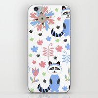 racoon iPhone & iPod Skins featuring Racoon pattern  by luizavictoryaPatterns