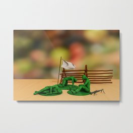 Toy Soldiers - Defeated - Anti-War Political Artwork Metal Print