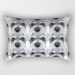 Schnauzer pattern-Grey Dog illustration original painting print Rectangular Pillow