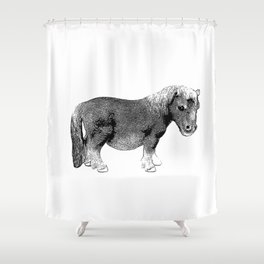 The Ever-So-Cute Pony Shower Curtain