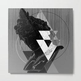 Bacchus Greyscale Metal Print