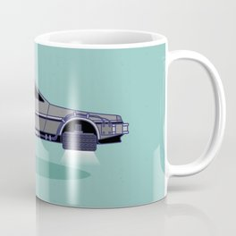 Flying Delorean Time Machine - Back to the future series Coffee Mug