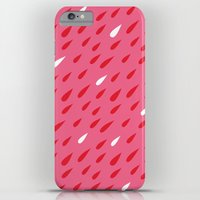 Red + Pink Droplets iPhone 6s Plus Slim Case
