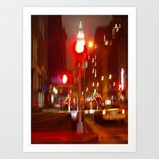 NY Lights Art Print